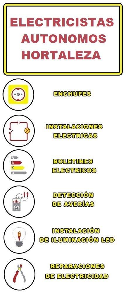 servicios de electricidad en Hortaleza