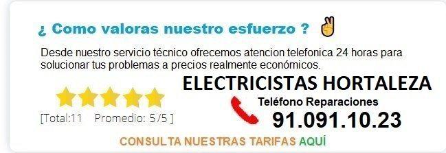 electricistas hortaleza precios